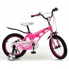 Велосипед детский двухколесный для девочек PROFI LMG16203 Infinity, 16 дюймов, малиновый