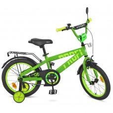 Велосипед детский двухколесный PROFI T16173 Flash, 16 дюймов, салатовый