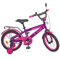 Велосипед детский двухколесный PROFI T16174 Flash, 16 дюймов, розово-фиолетовый