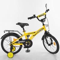 Велосипед детский двухколесный PROFI T1632 Racer, 16 дюймов, желтый