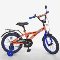 Велосипед детский двухколесный PROFI T1635 Racer, 16 дюймов, оранжевый