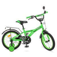 Велосипед детский двухколесный PROFI T1636 Racer, 16 дюймов, зеленый