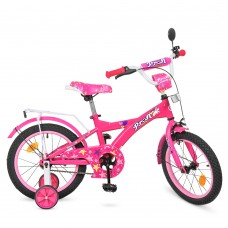 Велосипед детский двухколесный для девочек PROFI T1662 Original girl, 16 дюймов, малиновый