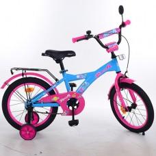 Велосипед детский двухколесный для девочек PROFI T1664 Original girl, 16 дюймов, розово-голубой