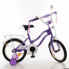 Велосипед детский двухколесный PROFI XD1693 Star, 16 дюймов, фиолетовый