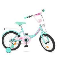 Велосипед детский двухколесный для девочек PROFI Y1612 Princess, 16 дюймов, мятный