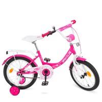 Велосипед детский двухколесный для девочек PROFI Y1613 Princess, 16 дюймов, малиновый