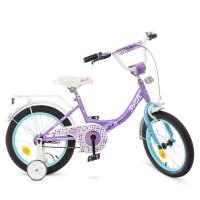 Велосипед детский двухколесный для девочек PROFI Y1614 Princess, 16 дюймов, сиреневый