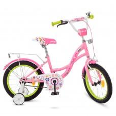 Велосипед детский двухколесный для девочек PROFI Y1621-1 Bloom, 16 дюймов, розовый