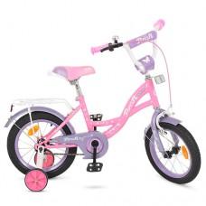 Велосипед детский двухколесный для девочек PROFI Y1621 Butterfly, 16 дюймов, розовый