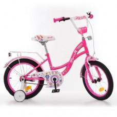 Велосипед детский двухколесный для девочек PROFI Y1623-1 Bloom, 16 дюймов, малиновый