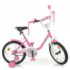 Велосипед детский двухколесный PROFI Y1681 Flower, 16 дюймов, розовый