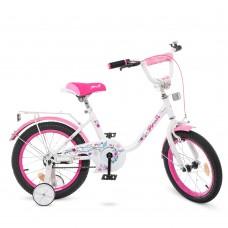 Велосипед детский двухколесный для девочек PROFI Y1685 Flower, 16 дюймов, белый