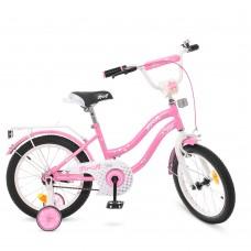 Велосипед детский двухколесный для девочек PROFI Y1691 Star, 16 дюймов, розовый