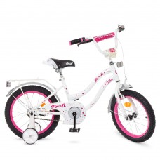 Велосипед детский двухколесный для девочек PROFI Y1694 Star, 16 дюймов, белый