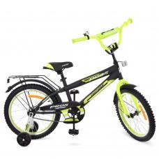 Велосипед детский двухколесный PROFI G1851 Inspirer, 18 дюймов, салатово-черный