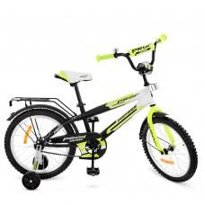 Велосипед детский двухколесный PROFI G1854 Inspirer, 18 дюймов, бело-черный