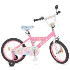 Велосипед детский двухколесный для девочек PROFI L18131 Butterfly, 18 дюймов, розовый