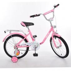 Велосипед детский двухколесный PROFI L1881 Flower, 18 дюймов, розовый