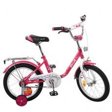 Велосипед детский двухколесный PROFI L1882 Flower, 18 дюймов, малиновый