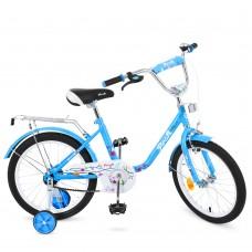 Велосипед детский двухколесный PROFI L1881 Flower, 18 дюймов, голубой