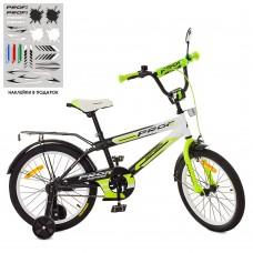 Велосипед детский двухколесный PROFI SY1854 Inspirer, 18 дюймов, черно-салатовый