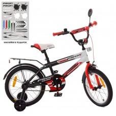 Велосипед детский двухколесный PROFI SY1855 Inspirer, 18 дюймов, красно-белый