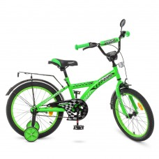 Велосипед детский двухколесный PROFI T1836 Racer, 18 дюймов, зеленый