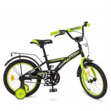 Велосипед детский двухколесный PROFI T1837 Racer, 18 дюймов, салатово-черный