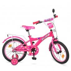 Велосипед детский двухколесный для девочек PROFI T1862 Original girl, 18 дюймов, малиновый