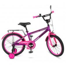 Велосипед детский двухколесный для девочек PROFI T1877 Forward, 18 дюймов, розово-фиолетовый