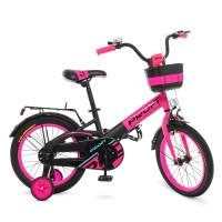 Велосипед детский двухколесный для девочек PROFI W18115-7 Original, 18 дюймов, малиновый