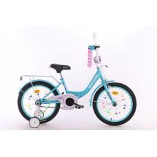 Велосипед детский двухколесный PROFI XD1815 Princess, 18 дюймов, аквамарин