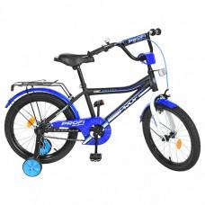 Велосипед детский двухколесный PROFI Y18101 Top Grade, 18 дюймов, сине-черный