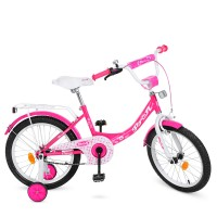 Велосипед детский двухколесный для девочек PROFI Y1813 Princess, 18 дюймов, малиновый