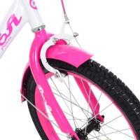 Велосипед детский двухколесный для девочек PROFI Y1814 Princess, 18 дюймов, малиново-белый
