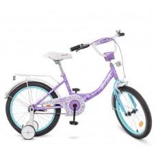 Велосипед детский двухколесный для девочек PROFI Y1815 Princess, 18 дюймов, сиреневый