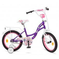 Велосипед детский двухколесный для девочек PROFI Y1822-1 Bloom, 18 дюймов, фиолетовый