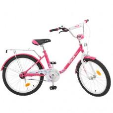 Велосипед детский двухколесный PROFI L2082 Flower, 20 дюймов, малиновый