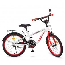 Велосипед детский двухколесный для девочек PROFI T20154 Space, 20 дюймов, белый