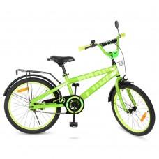Велосипед детский двухколесный PROFI T20173 Flash, 20 дюймов, салатовый