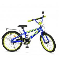 Велосипед детский двухколесный PROFI T20175 Flash, 20 дюймов, синий