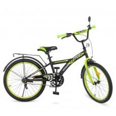 Велосипед детский двухколесный PROFI T2037 Racer, 20 дюймов, салатово-черный