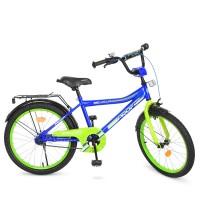 Велосипед детский двухколесный PROFI Y20103 Top Grade, 20 дюймов, салатово-синий