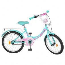 Велосипед детский двухколесный для девочек PROFI Y2012 Princess, 20 дюймов, мятный