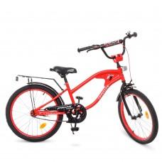 Велосипед детский двухколесный PROFI Y20181 TRAVELER,  20 дюймов, красный