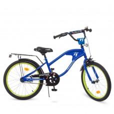 Велосипед детский двухколесный PROFI Y20182 TRAVELER,  20 дюймов, синий