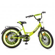 Велосипед детский двухколесный PROFI Y2042 Original boy, 20 дюймов, салатовый