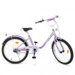 Велосипед детский двухколесный для девочек PROFI Y2083 Flower, 20 дюймов, фиолетовый