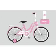 Велосипед детский двухколесный для девочек PROFI Y2091 Star, 20 дюймов, розовый